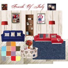 Designer Clothes, Shoes & Bags for Women Blue Rooms, Red White Blue, Ann, Kids Rugs, Polyvore, Stuff To Buy, Design, Home Decor, Women