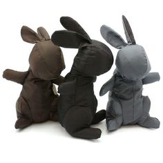 Foldaway shopping bag that transforms into an adorable stuffed bunny