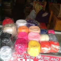 For Sale: Crochet Yarn Baguio Yarn Hi, got some baguio yarns for sale! 48 pesos per 100grams. yarns are on display in Progreso Street.  text me at 09173205101