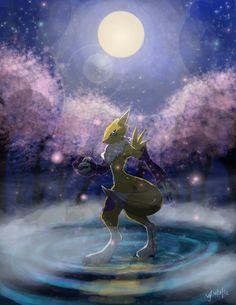 Moonlight Renamon by Watchowl.deviantart.com on @deviantART