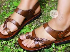 Handmade Leather Sandals Brown Leather Sandals Womens