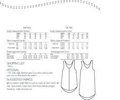 Eucalypt woven tank top & dress sewing pattern $12