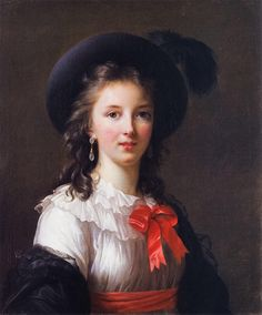 Self-portrait by Elisabeth Vigee-Lebrun a French painter (1755-1842). Celebrated artist in her own time and author of Souvenirs, a book about her life and European society, published in 1835.