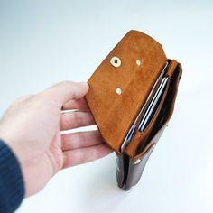 Envelope wallet / Woman's handmade leather wallet / by ArmandJany