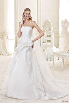 nicole spose bridal 2015 style 48 niab15086iv straight across a line wedding dress