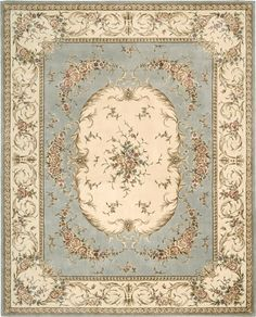 Nourison Chateau Provence BL Blue Closeout Area Rug - Rugs A Bound Clearance Area Rugs, Unique Rugs, Fabric Rug, Nautical Theme, Miniature Dolls, Floor Rugs, Rugs On Carpet, Dollhouse Miniatures, Printing On Fabric