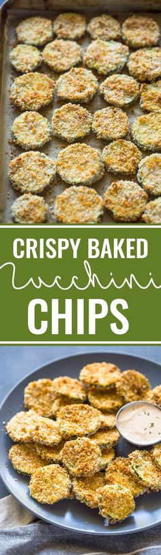 Healthy Crispy Baked Zucchini Chips