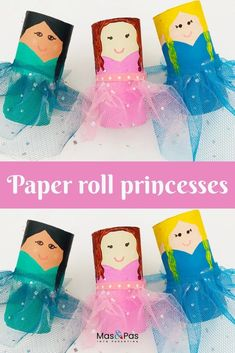 Transform a humble toilet roll into a pretty princess all dressed to go to the ball. A beautiful princess craft for kids. A gorgeous TP roll princess craft for fairytale mad children. The tulle netting adds a little bit of extra pizazz to this fairytale craft. #paperrollprincess #TProllprincess #princesstoiletpaperroll #princesstoiletroll #princesstoiletrollcraft