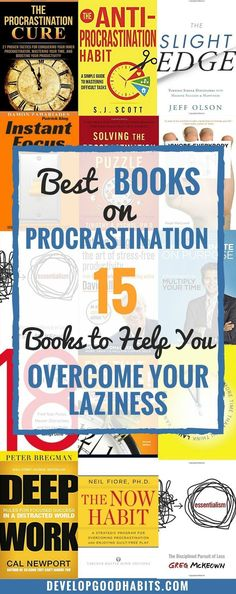 The 15 best books on procrastination. These procrastination books will break down exactly what procrastination is (and what it is not).  Get a grip on procrastination and how to stop it with these top books about procrastination, focus, time management and getting things done.