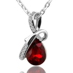 Crystal Short Angel Tears Necklace (6 Colors)