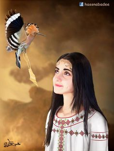 Palestinian Girl | by Hasan Abadi Palestine History, Palestine Art, Palestinian Embroidery, Arabic Art, Indian Paintings, Portrait Art, Portraits, Print Pictures, Simply Beautiful
