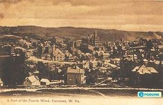West Virginia Photo Archives | Fairmont postcard post card - Part of the fourth ward, Fairmont, WV