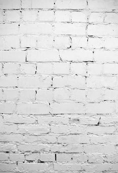White Brick Wall Photo Backdrop for Party Decorations Floor-374 - Custom Size(Please Contact Us)