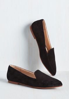 Smart, Chic, and to the Point Loafer - Black, Solid, Work, Casual, Menswear Inspired, Minimal, Exceptional, Black, Leather, Suede