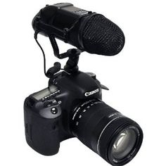 """Opteka VM-200 Video Condenser Stereo Shotgun Microphone for Digital SLR Cameras and Camcorders by Opteka. $129.95. The Opteka VM-200 Stereo Shotgun Microphone is a highly sensitive directional microphone designed to magnify your target sounds while eliminating background noise from video shoots. The VM-200 will attach to camcorders & digital SLRs via shoe mount, straight bracket or video rig. It may also be mounted to a boompole via 1/4"""" threads.  Features ~ Directio..."""