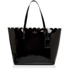 kate spade new york Lily Avenue Patent Carri Tote ($310) ❤ liked on Polyvore featuring bags, handbags, tote bags, kate spade, patent leather handbags, kate spade purses, tote purses and lightweight tote bag