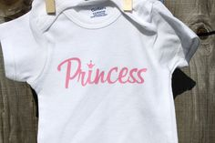 Princess Onesies Baby Girl Shower by RoyalMajesTees on Etsy