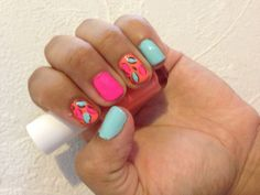 Nails summer..minus the print