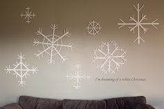popsicle stick glitter snowflakes