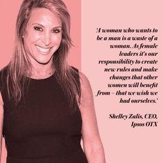 Inspirational career advice from Shelley Zalis, CEO Ipsos OTX. Career inspiration. www.redonline.co.uk