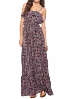 Tribal Print Maxi Dress