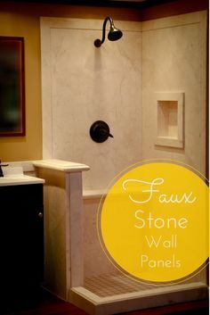 Learn 5 things nobody tells you about grout free shower and tub wall panels. Bathroom Shower Panels, Bathroom Wall Decor, Shower Tub, Bathroom Ideas, Stall Shower, Shower Walls, Master Shower, Shower Kits, Attic Bathroom