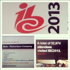 #IBC2013 #52974attendees #molewasthere #doingbigthings #fromhollywoodtoamsterdam #amsterdam #whosawusthere