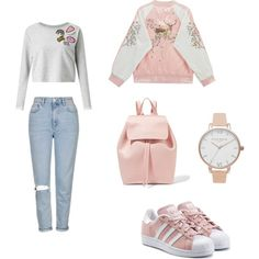 A fashion look from December 2016 featuring Miss Selfridge sweatshirts, Chicnova Fashion jackets and Topshop jeans. Browse and shop related looks.