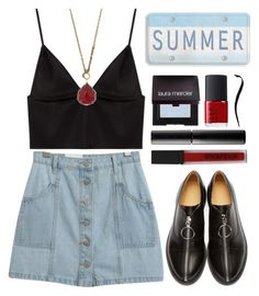 """""""× silence is sometimes the best answer ×"""" by black4ever ❤ liked on Polyvore featuring MM6 Maison Margiela, Chicnova Fashion, T By Alexander Wang, 1928, Smashbox, Surratt, Laura Mercier and NARS Cosmetics"""
