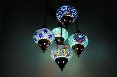 Turkish Style Mosaic Hanging Lamp Light Hand Made Ceiling Light