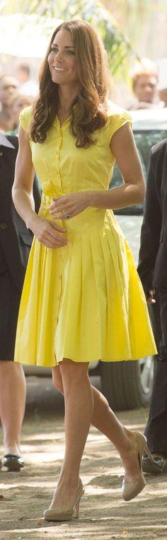 Yellow summer dress (Jaeger dress worn by Duchess Kate)