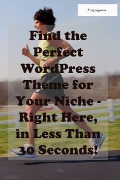 Find the Perfect WordPress Theme for Your Niche - Right Here, in Less Than 30 Seconds!- http://zigzagpress.com/themes/?ref=7f39f8317fbdb1988ef4c628eba02591