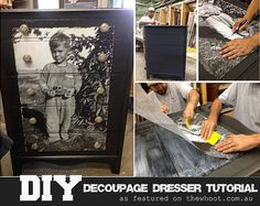 I so want to do this!  decoupage