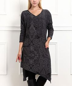 Loving this Charcoal Paisley Handkerchief Dress on #zulily! #zulilyfinds