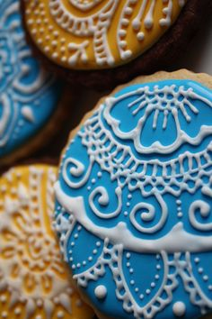 """henna"" cookies- beautiful"