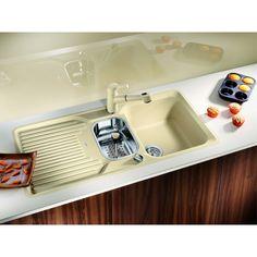 CHIUVETA DE BUCATARIE BLANCO CLASSIC 6 S SILGRANIT JASMIN REVERSIBILA CU MONTARE CLASICA PE BLAT SI PROFIL CONVENTIONAL - Iak Bath Caddy, Jasmine, Sink, Bathroom, Classic, Home Decor, Sink Tops, Washroom, Derby