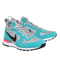 Nike Internationalist Mid Wmns Metallic Silver Black Hype Jade Qs - Hers trainers