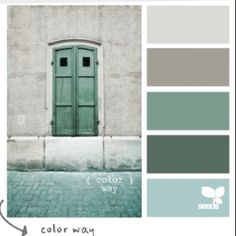 gray, green color palette