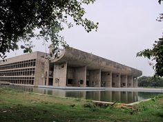 Vidhan Bhavan ( Legislative Assembly), Part of city center development. Chandigarh, India. 1951-1965. Le Corbusier,