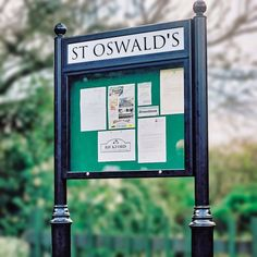 Lynester Post Mounted Notice Board With Ornate Posts - Noticeboards Online - Buy Notice Boards And Whiteboards Online