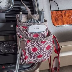 High Road DriverPockets Cell Phone Holder for Car - Sahara Pattern