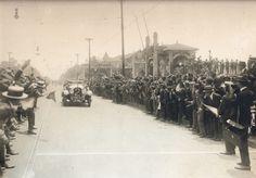 1924 São Paulo Av Paulista Corrida de  carros com a chegada na frente ao Parque Trianon