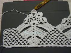 PAP  - Resumido  ...  Estou começando agora os meus barrados, com o CORDÃO em Croche ...     Percebo que fica melhor estruturado e da...