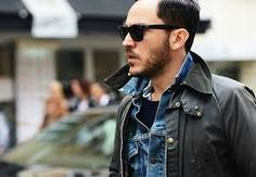 layering denim with a wax jacket