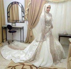 Hijab bride #PerfectMuslimWedding.com