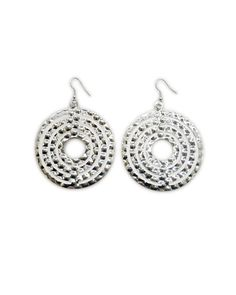 The Hammered Silver Glam Earrings by JewelMint.com, $25.00
