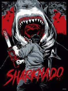 SHARKNADO by Anthony Petrie, via Behance #Sharknado