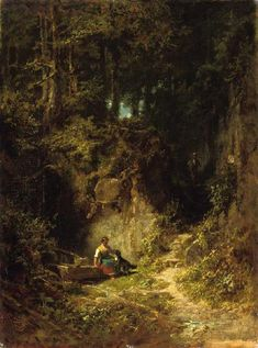 The Athenaeum - Forest Landscape (Carl Spitzweg - )