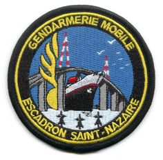 Ecusson Gendarmerie Mobile Escadron Saint-Nazaire