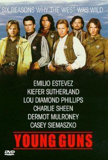 Young Guns ( 1988 ) A group of young gunmen, led by Billy the Kid, become deputies to avenge the murder of the rancher who became their benefactor. But when Billy takes their authority too far, they become the hunted. 80s Movies, Great Movies, Comedy Movies, Throwback Movies, See Movie, Movie Tv, Movie List, Billy Kidd, Plus Tv